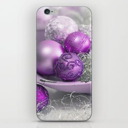 Fancy pink christmas iPhone Skin