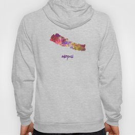 Nepal in watercolor Hoody
