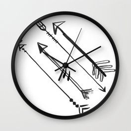 Shay & Moon - Arrows Wall Clock
