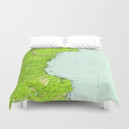Vintage Map of Tahoe California (1955) Duvet Cover