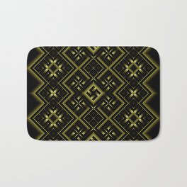 Solar signs. Ancient ornament. Sacred geometry Bath Mat