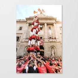 Castellers of Barcelona's La Mercè Festival Canvas Print
