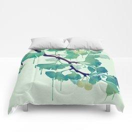 O Ginkgo (in Green) Comforters