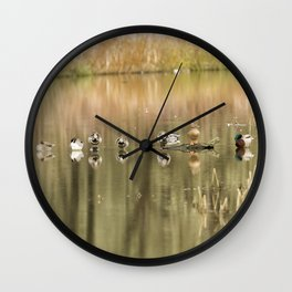 Duck Reflections Wall Clock