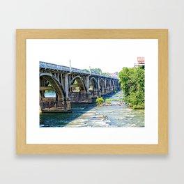 Gervais Street Bridge Framed Art Print