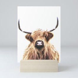 Highland Cow Portrait Mini Art Print