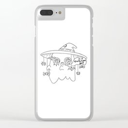 Impatient Ghosty Clear iPhone Case