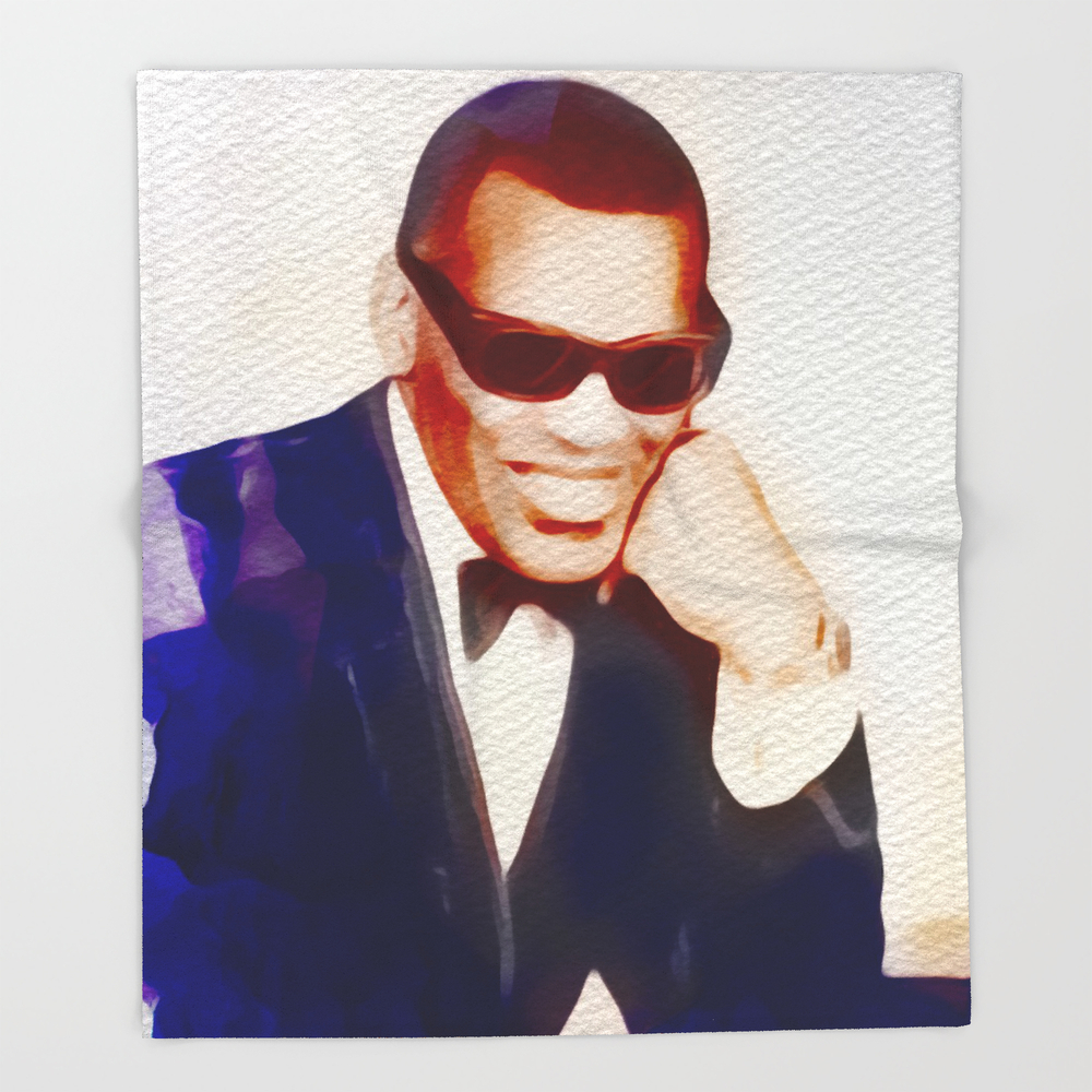 Ray Charles, Music Legend Throw Blanket BLK9097514