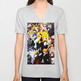 anime all Unisex V-Neck