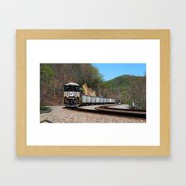 Empty Westbound Coal Train Framed Art Print