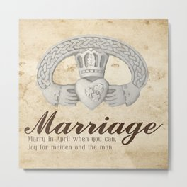April Marriage Metal Print