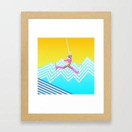 Ski like it's 1989 Framed Art Print