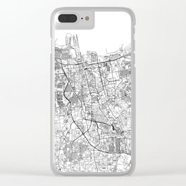 Jakarta White Map Clear iPhone Case