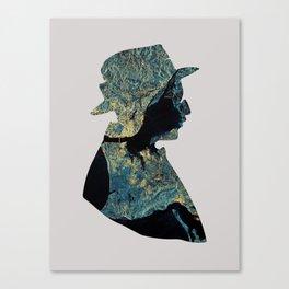 Fernando Pessoa & Lisbon Canvas Print