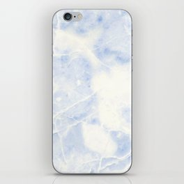 Blue and White Marble Waves iPhone Skin