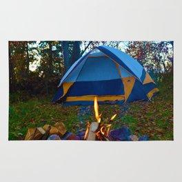 Camping & a Campfire in the Kawartha Lakes, Ontario, Canada Rug
