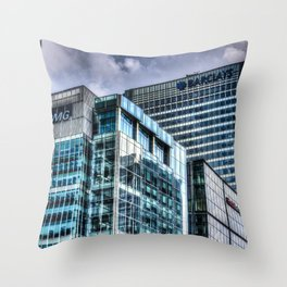 Corporate World Throw Pillow