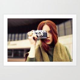Red hair photographer Art Print
