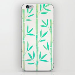 Bamboo Stems – Mint Palette iPhone Skin