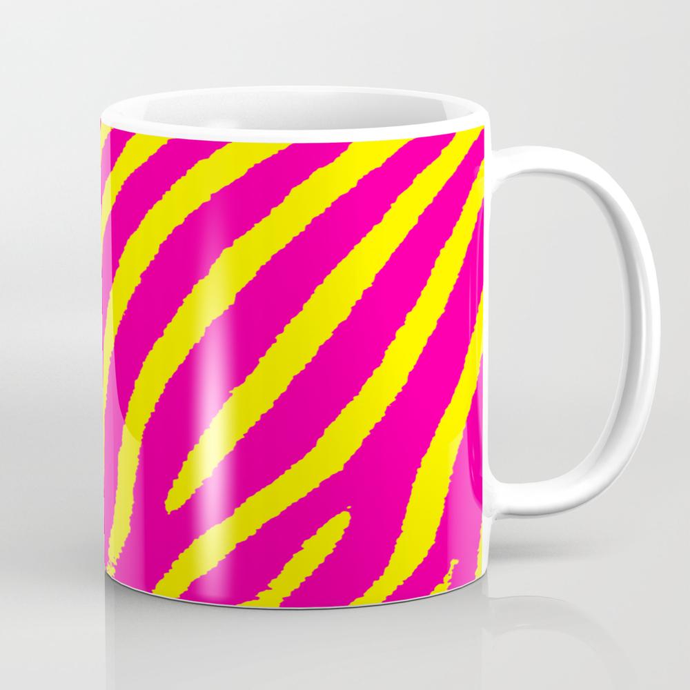 Zebra Print (pink & Yellow) Coffee Cup by Blakcirclegirl MUG9011330