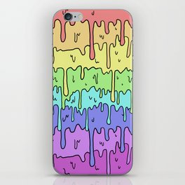Pastel Kawaii Melting Rainbow Design iPhone Skin