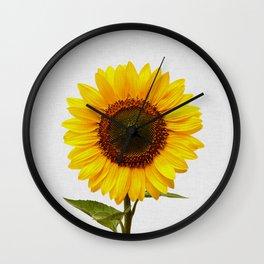 Sunflower Still Life Wall Clock