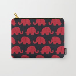 Elephants Red Carry-All Pouch