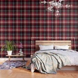 Red Flannel Pattern Wallpaper