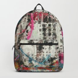 Analog Synthesizer, Abstract painting / illustration Backpack