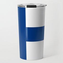 Flag of Finland - High Quality Image Travel Mug