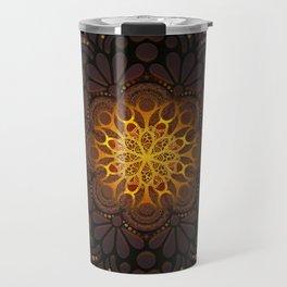 """Warm light Moroccan lantern Mandala"" Travel Mug"