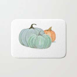 Colorful pumpkin trio Bath Mat