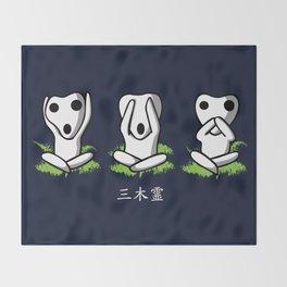 Three Kodama Throw Blanket