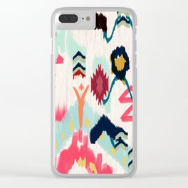Bohemian Ethnic Painting Clear iPhone Case
