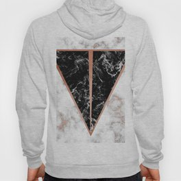 Black marble triangle shape Hoody