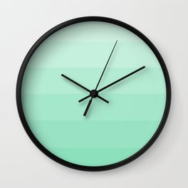 Soft Seafoam Green Hues - Color Therapy Wall Clock