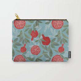 Pomegranate garden on sky blue Carry-All Pouch