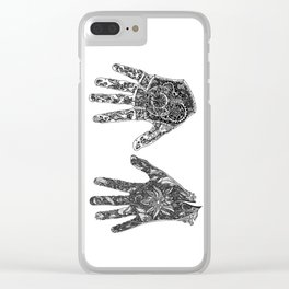 Hands of Contrast Clear iPhone Case