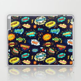 Retro Vintage Comic Book Speech Bubbles Design Laptop & iPad Skin