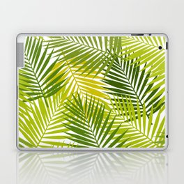 Palm leaf silhouettes seamless pattern. Tropical leaves. Laptop & iPad Skin