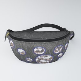 Asteroid Belt of Silver Moons Fanny Pack