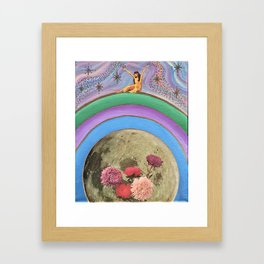 On top of my own special mountain*~ Framed Art Print