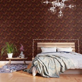 Mixing Copper Metallic Wallpaper