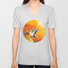 Tiger in the morning Unisex V-Neck