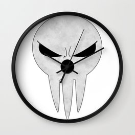 soul eater- lord death angry Wall Clock