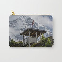 Swiss Observation Tower and Monch (Monk) Mountain - Lauterbrunnen Carry-All Pouch