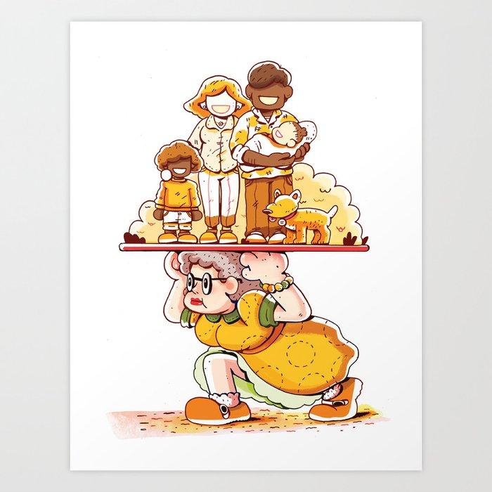 """What Good Is Grandma?"" by Jackie Ferrentino for Nautilus Art Print"