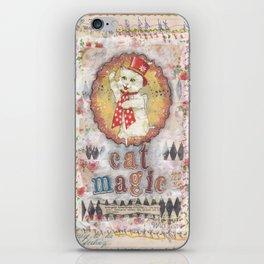 cat magic iPhone Skin