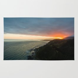sunset over kaikoura mountains cloud carpet colors Rug