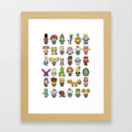 90s Nicktoons Framed Art Print